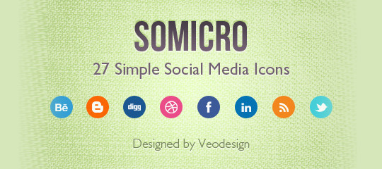 Vibrant Collection Of Fresh And Free Social Media Icon Sets 29