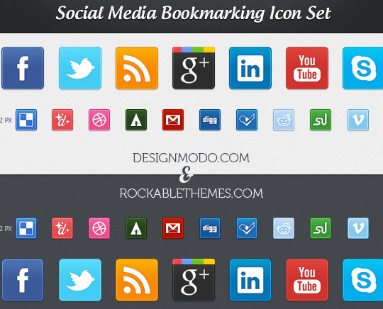 Vibrant Collection Of Fresh And Free Social Media Icon Sets 2