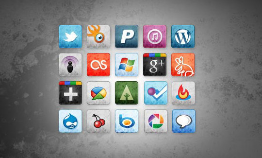 Vibrant Collection Of Fresh And Free Social Media Icon Sets 5