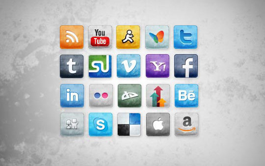 Vibrant Collection Of Fresh And Free Social Media Icon Sets 31