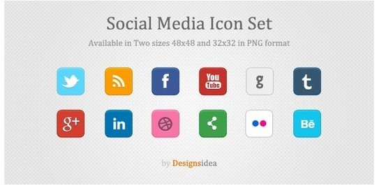 Vibrant Collection Of Fresh And Free Social Media Icon Sets 34