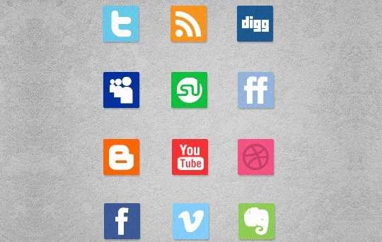 Vibrant Collection Of Fresh And Free Social Media Icon Sets 18