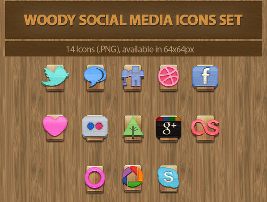 Vibrant Collection Of Fresh And Free Social Media Icon Sets 6