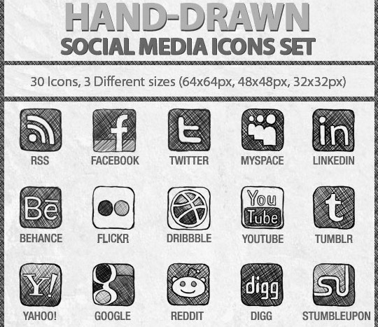Vibrant Collection Of Fresh And Free Social Media Icon Sets 10