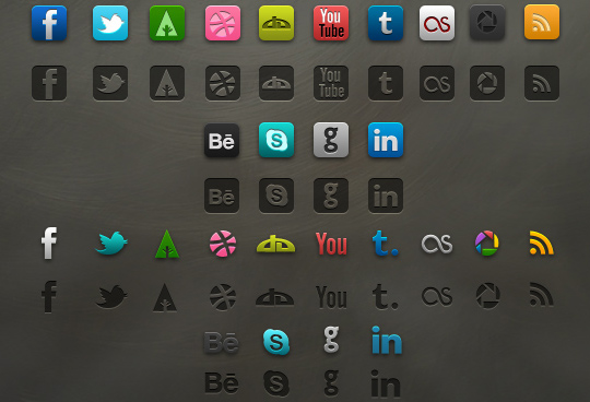 Vibrant Collection Of Fresh And Free Social Media Icon Sets 15