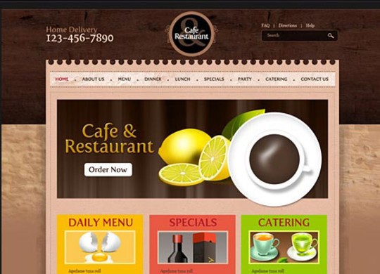 40+ High Quality And Free Web Templates In PSD 3