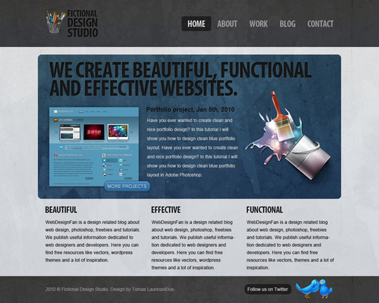 40+ High Quality And Free Web Templates In PSD 22