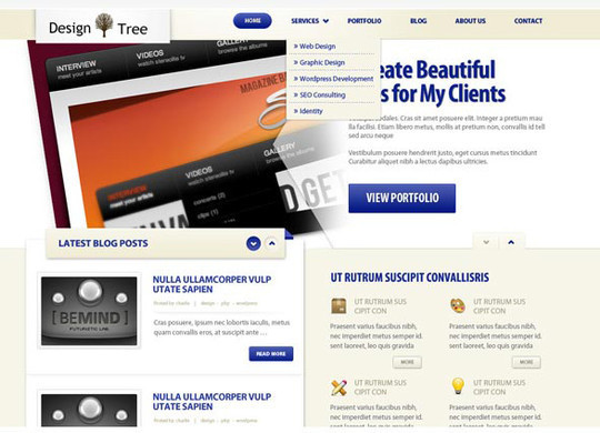 40+ High Quality And Free Web Templates In PSD 25