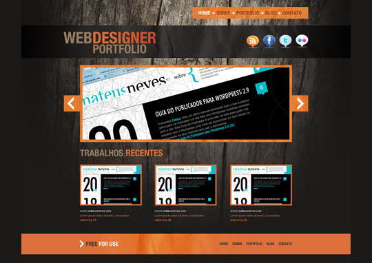 40+ High Quality And Free Web Templates In PSD 30