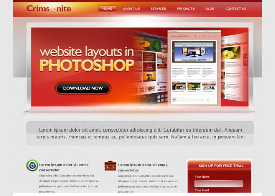 40+ High Quality And Free Web Templates In PSD 31