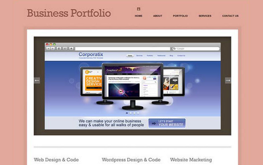 40+ High Quality And Free Web Templates In PSD 34