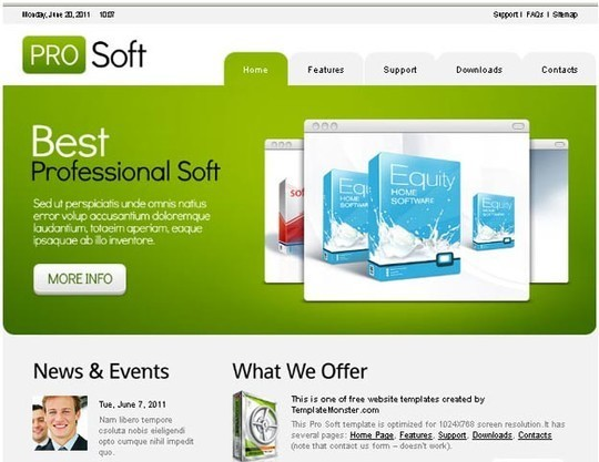 40+ High Quality And Free Web Templates In PSD 37