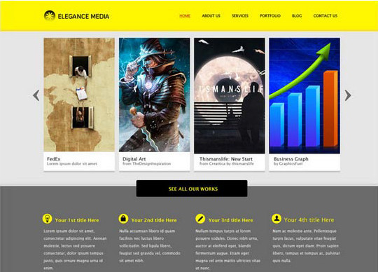 40+ High Quality And Free Web Templates In PSD 4