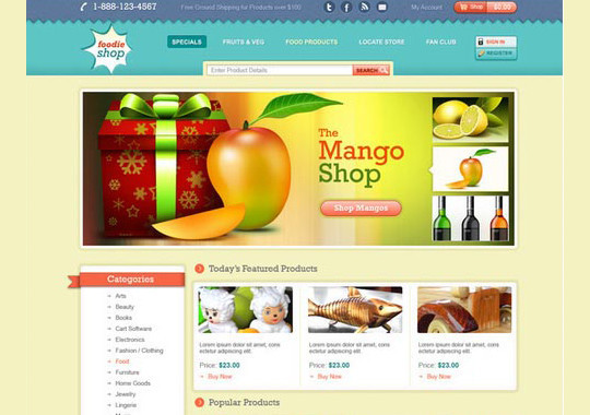40+ High Quality And Free Web Templates In PSD 12