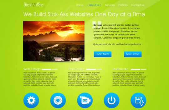 40+ High Quality And Free Web Templates In PSD 42