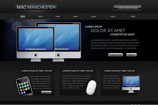 40+ High Quality And Free Web Templates In PSD 13