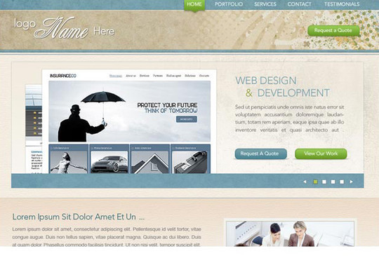 40+ High Quality And Free Web Templates In PSD 10