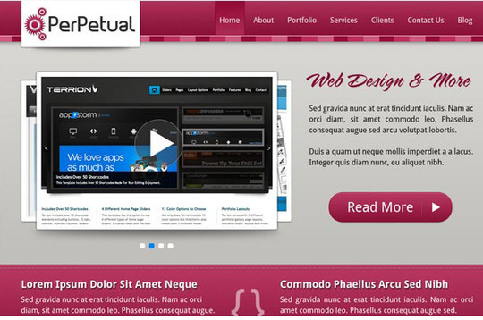 40+ High Quality And Free Web Templates In PSD 44
