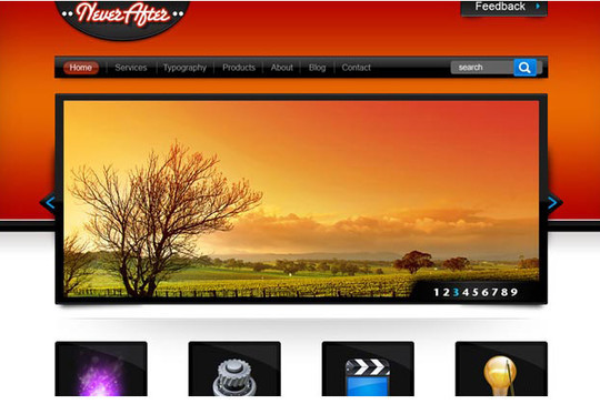 40+ High Quality And Free Web Templates In PSD 36