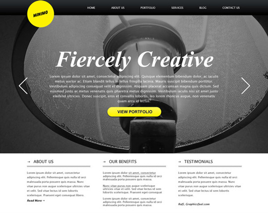 40+ High Quality And Free Web Templates In PSD 8