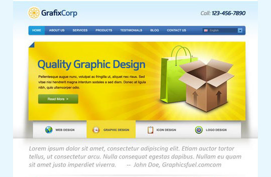 40+ High Quality And Free Web Templates In PSD 16