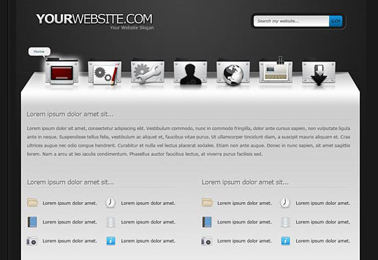 40+ High Quality And Free Web Templates In PSD 19