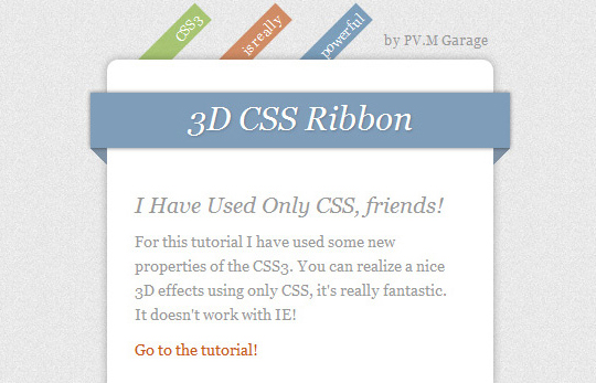 Showcase Of Useful CSS3 Tutorials And Techniques 8