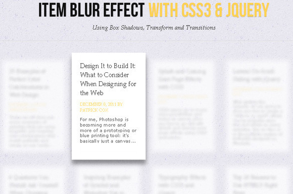 Showcase Of Useful CSS3 Tutorials And Techniques 2