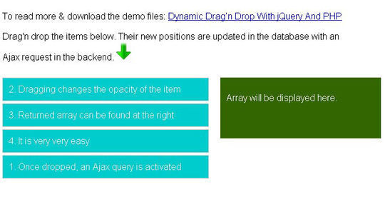 Extensive Collection Of jQuery Drag And Drop Plugins 14