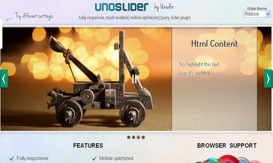 37 Fresh jQuery Image, Content Sliders And Slideshows 33