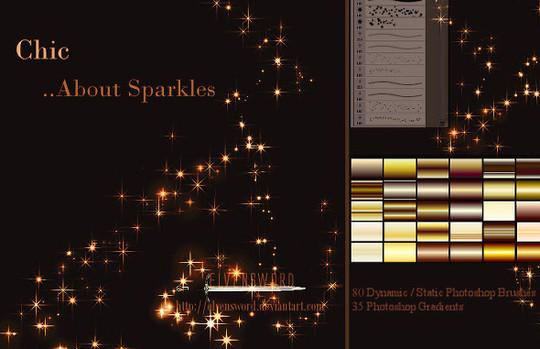18 Free Yet High Quality Sparkle Photoshop Brush Sets 15