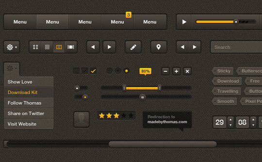 50 Free Web And Mobile UI Element Kits, Wireframe Kits And PSD Files 35