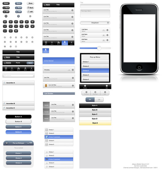 50 Free Web And Mobile UI Element Kits, Wireframe Kits And PSD Files 26