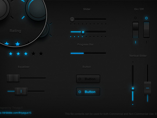 50 Free Web And Mobile UI Element Kits, Wireframe Kits And PSD Files 4