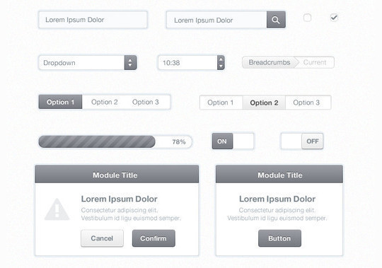 50 Free Web And Mobile UI Element Kits, Wireframe Kits And PSD Files 30