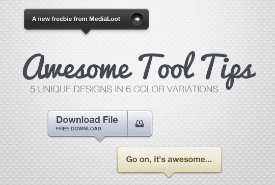 15 Free High Quality ToolTip PSD's 5
