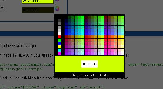 10 Most Useful Javascript Color Pickers Plugins 7
