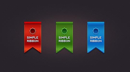 15 Beautiful Yet Free Ribbons PSD Files 1