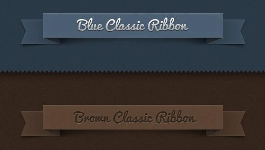 15 Beautiful Yet Free Ribbons PSD Files 5