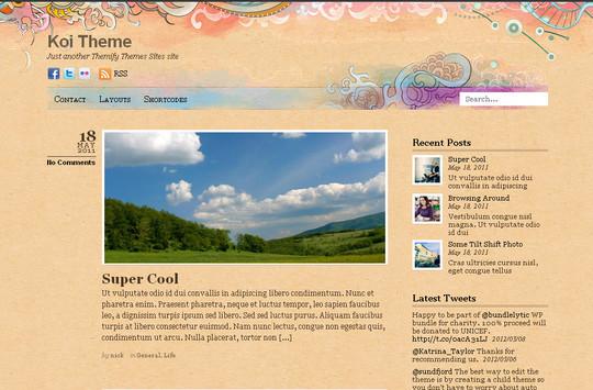 40+ Fresh And Free Wordpress Themes 8