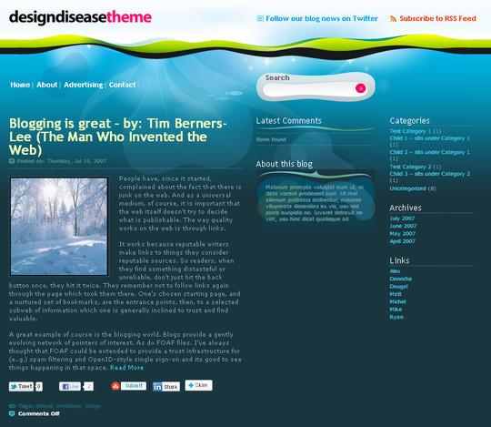 40+ Fresh And Free Wordpress Themes 11