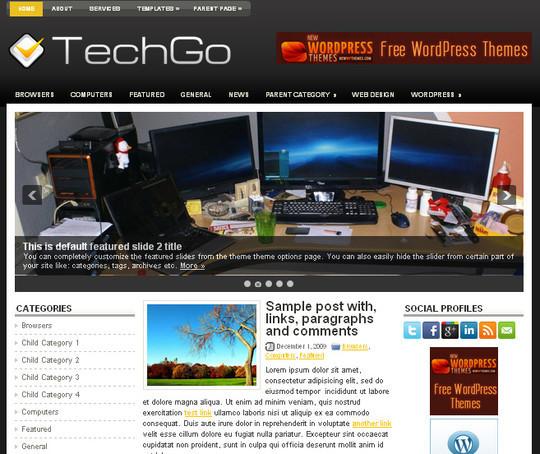40+ Fresh And Free Wordpress Themes 30