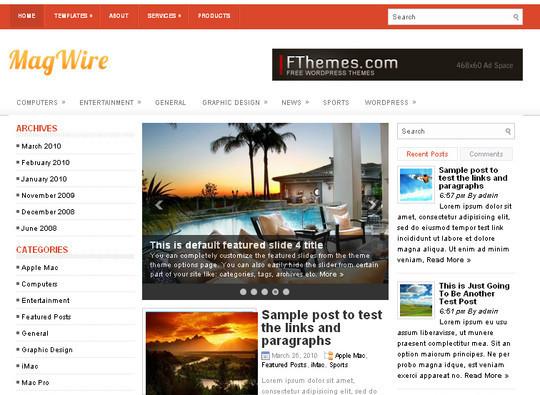 40+ Fresh And Free Wordpress Themes 14