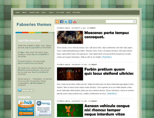 40+ Fresh And Free Wordpress Themes 33