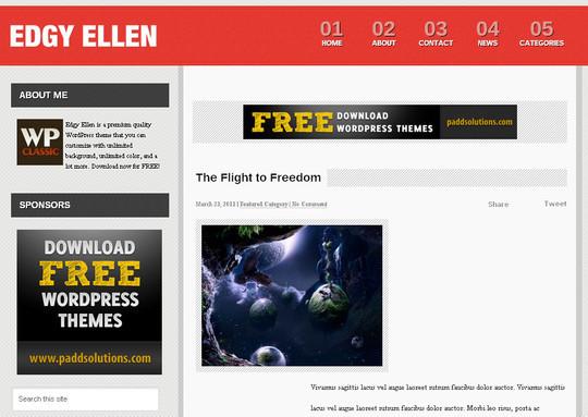 40+ Fresh And Free Wordpress Themes 34