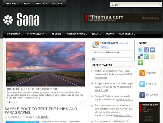 40+ Fresh And Free Wordpress Themes 37
