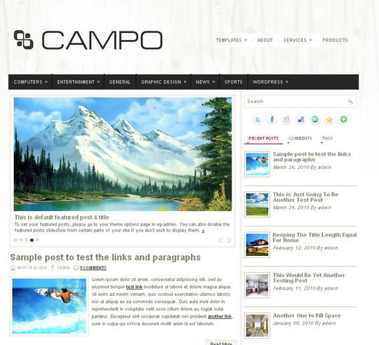 40+ Fresh And Free Wordpress Themes 39