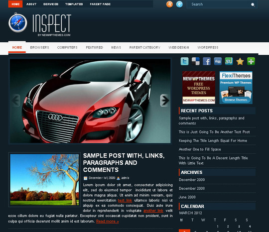40+ Fresh And Free Wordpress Themes 13