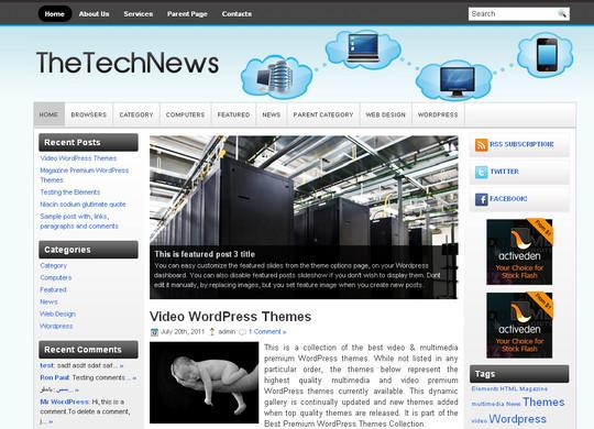 40+ Fresh And Free Wordpress Themes 2