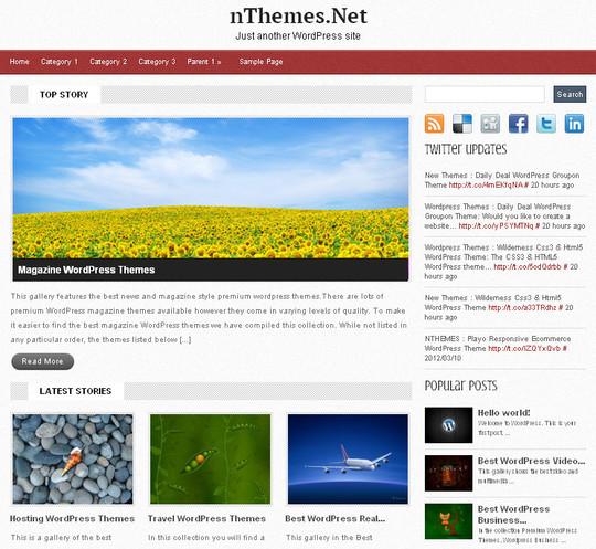 40+ Fresh And Free Wordpress Themes 16